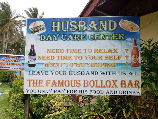 Funny Pub Signs - The Husband Day Care Center! | The Travel Tart Blog