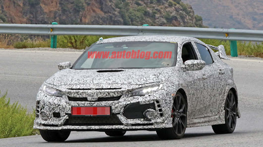 Honda Civic Type R spied closer to production