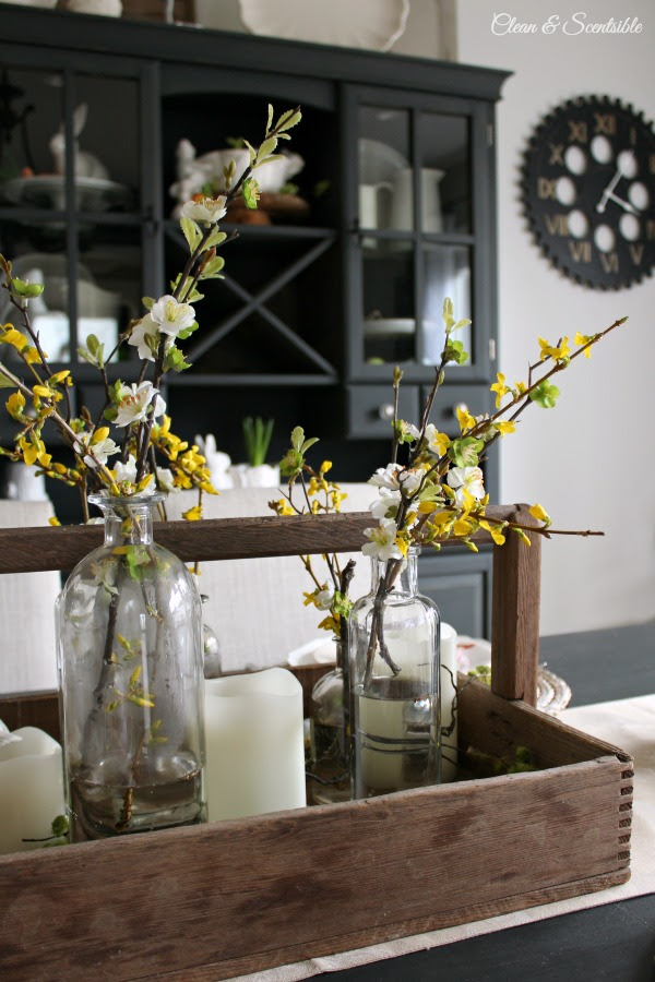 Create Share Inspire Link Party - Clean and Scentsible - Spring-and-Easter-Tablescape-3