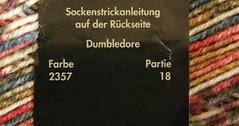 Harry Potter sock yarn, 'Dumbledore'