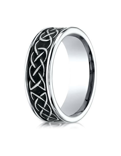 DUNDEE Cobalt Celtic Knot Wedding Band for Men by