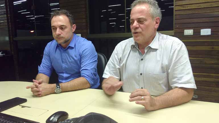 Divulgação - Os executivos Flavio Andreo e João Andreo Colofatti: empresa familiar com governança corporativa atraiu os chineses