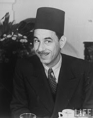 Abd El-Rahman Azam Pasha,min of Social affair in 1940 luncheon
