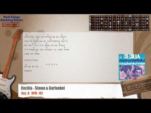 Best Songs Backing Tracks BSBT: Cecilia - Simon & Garfunkel Guitar ...