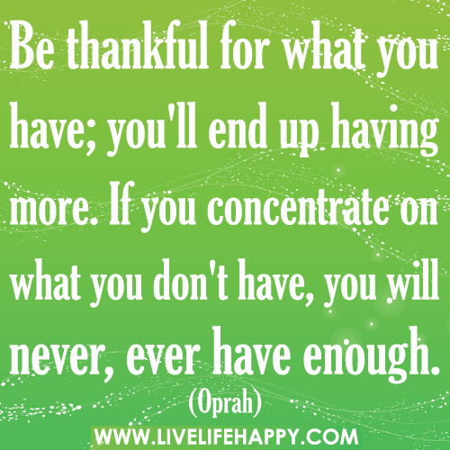 Quotes About Being More Thankful 29 Quotes