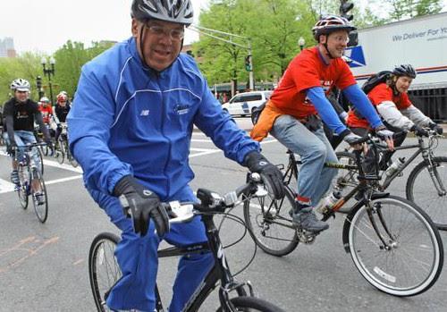 Mayor Menino on wheels, last month's event