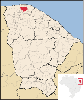 Localização de Bela Cruz
