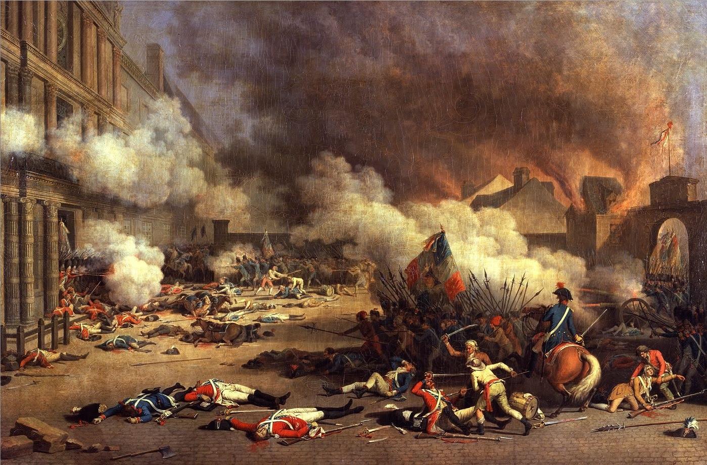 Jacques Bertaux Prise du palais des Tuileries 1793