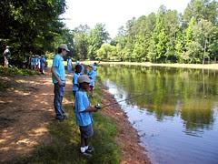 the gang fishing