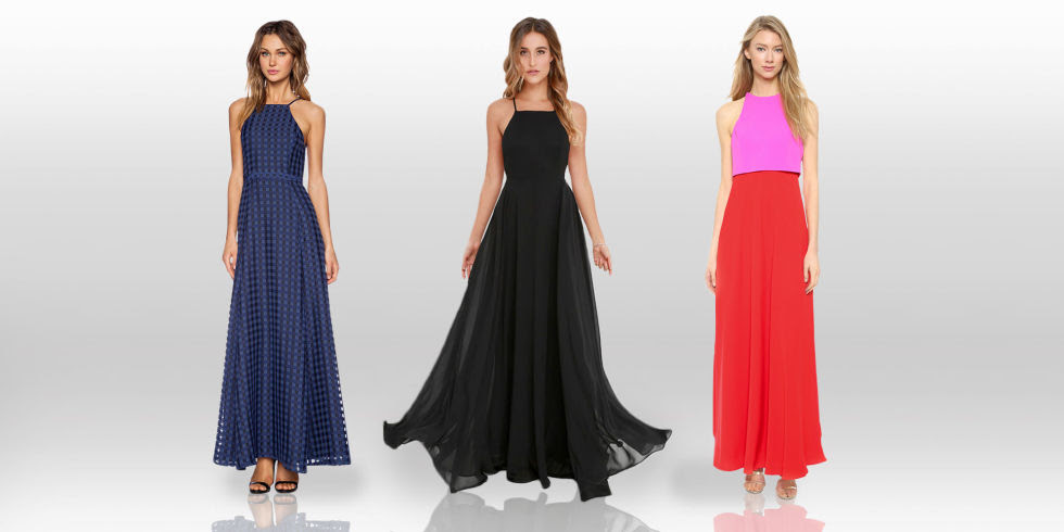 Evening dresses for holiday