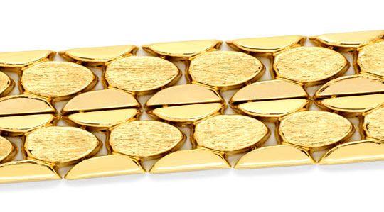 Foto 2, Fünf-reihiges Gold-Armband 18K, Kastenverschluss Luxus!, K2063