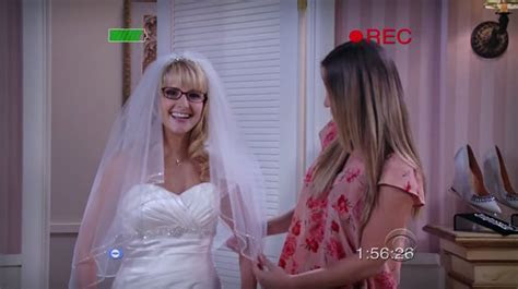 Image   Bernadette trying on wedding dresses.png   The Big