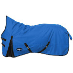 Tough-1 1200D 300gm Waterproof Poly High Neck Turnout Blanket 78 Inch, Royal Blue