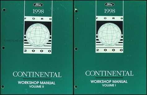 Download PDF Online 1998 lincoln continental repair manual