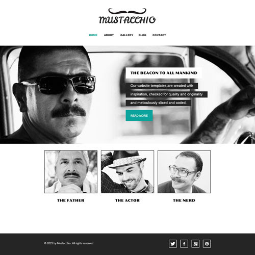 Ready - Mustache Enthusiast Website Template | Free Website Templates