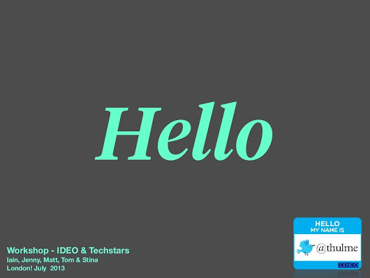 IDEO workshop for Techstars