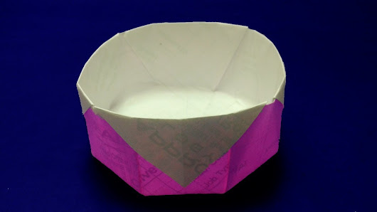 Origami Bowl DIY How To Make Easy Paper Instructions Step By SteppaperCraft