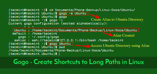 Gogo - Create Shortcuts to Long and Complicated Paths in Linux