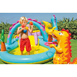 Intex Inflatable Kids Dinoland Play Center Slide Pool & Games