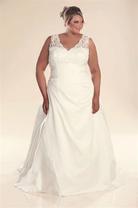 Plus size wedding dress with straps Jenny   Bridal gowns