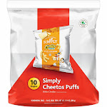 Cheetos Simply White Cheddar Puffs - 10ct
