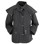 Outback Trading Men's Bush Ranger Short Oilskin Duster Black - Medium Black