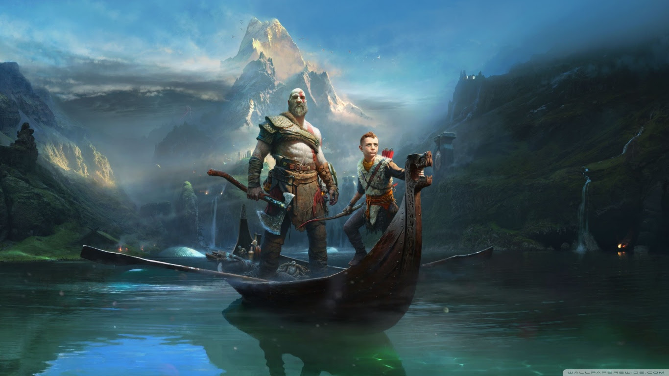 God Of War Kratos And Atreus 2018 Game Ultra Hd Desktop