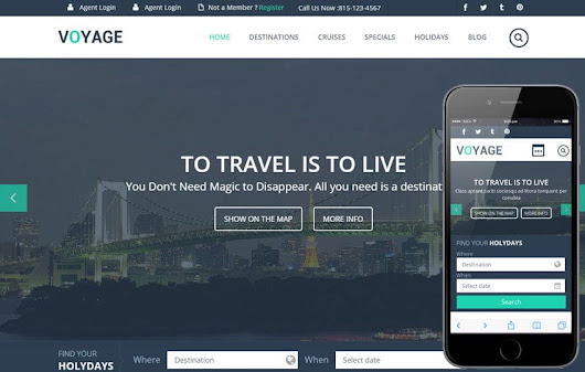Voyage a Flat Travel Responsive Web Template by w3layouts