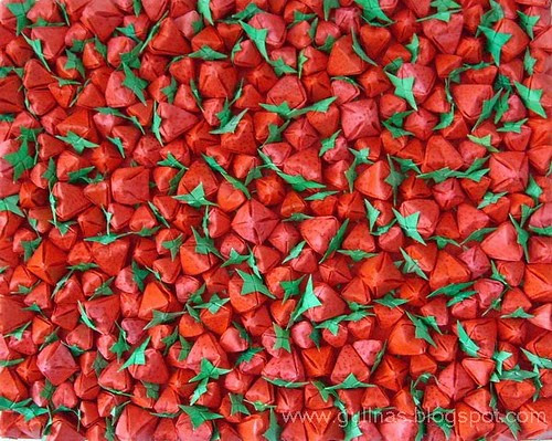 Folded strawberries