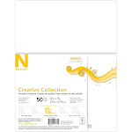 50ct Premium Cardstock 65lb White - Creative Collection