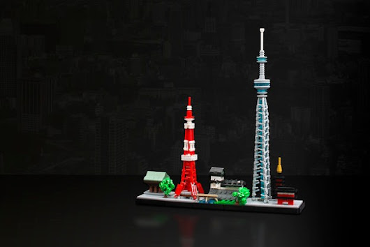 A tiny Tokyo skyline | The Brothers Brick | LEGO Blog