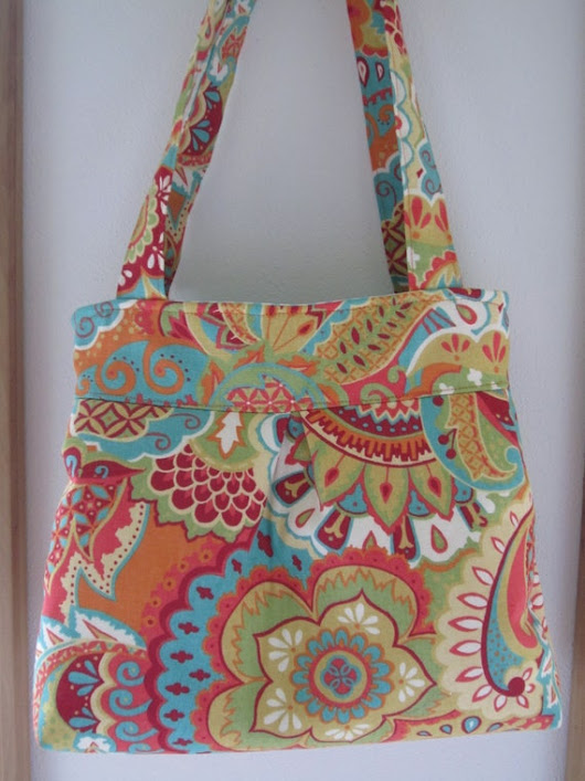 Bohemian Print on Canvas Handbag Purse Ipad Netbook Tote