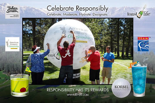 Giant Golf Ball Inflatable Promotes Brand & Responsible Drinking
