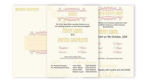 Wedding Card Design Portfolio Lahore Graphic Design