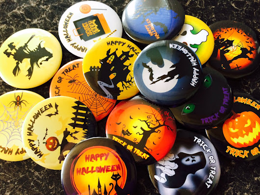 "Quickbadge on Twitter: ""#HalloweenTime #halloween #badges for a #spooky #party #TrickorTreat will be on the website soon or ask us about them  """