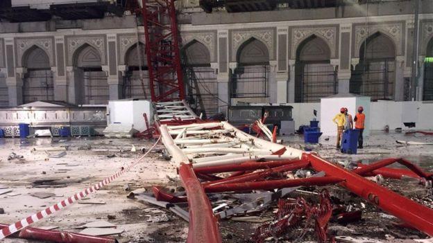 Kren Runtuh di Masjidil Haram