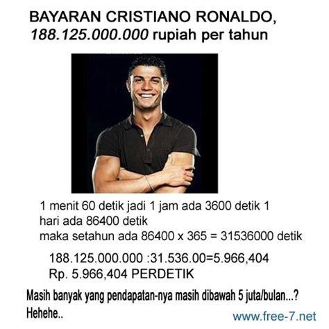 mengambil motivasi  bayaran cristiano ronaldo