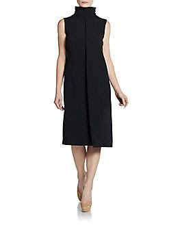 Calvin Klein Collection Turtleneck Shift Dress