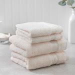 Charisma Soft 100% Hygro Cotton 4-Piece Hand & Washcloth Towel Set, Ivory