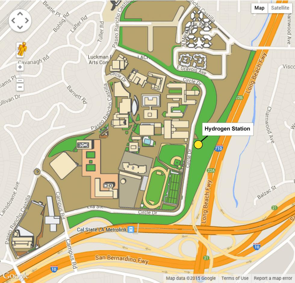 Cal State Los Angeles Campus Map | Metro Map on