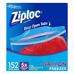 Ziploc Easy Open Tabs Freezer Gallon Bags (152 ct)