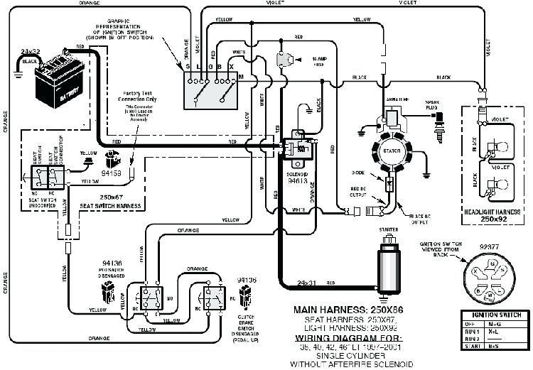 Electrical Schematic Craftsman Riding Mower Wiring Diagram