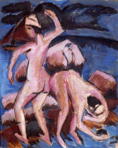 """Ερνστ Λούντβιχ Κίρχνερ, """"Δύο λουόμενοι""""¨, 1906"""