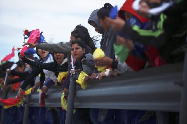 La manifestation, organisée par les autorités locales et... (Photo AP)