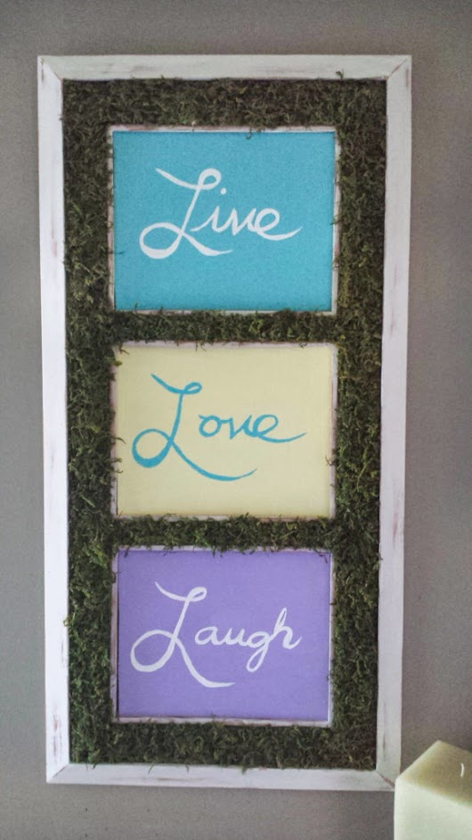 Craft Moss On Framed Typography Decor DIY · Fancymomma