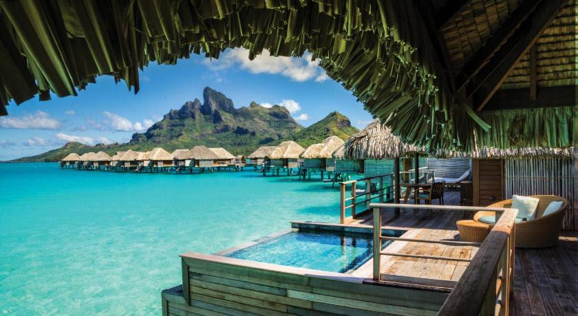 Lokasi percutian resort atas air terbaik