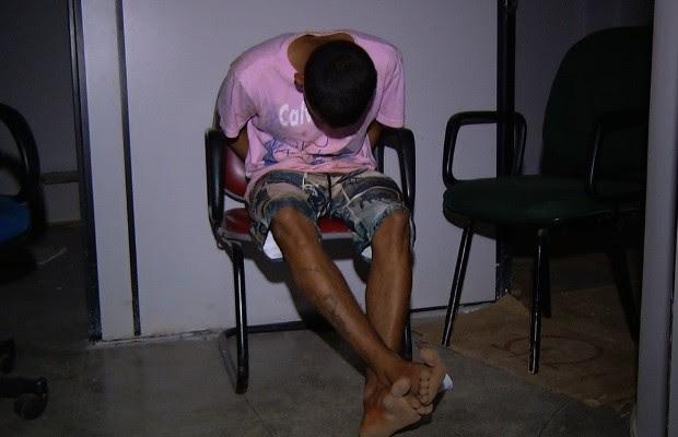 Apreendido menor suspeito de matar a namorada, de 14 anos, em Goiás (Foto: Reprodução/TV Anhanguera)