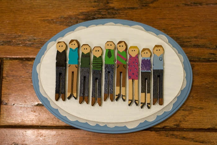 Custom Clothespin People