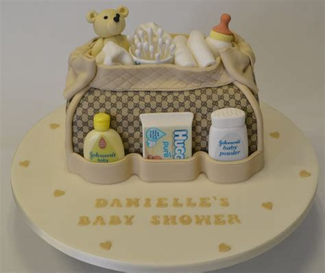 3D Baby Bag Baby Shower Cake   Baby Shower Cakes
