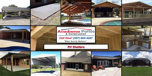 RV Shelters • Acadiana Patios • Acadiana's Elite Dealer Since 1985
